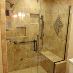 Elegant new tile shower