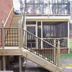 Repairing staircase above screened porch